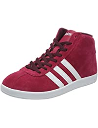 adidas Vlneo Court Mid W Zapatillas Zapatillas Trainers Rojo Mujer ante