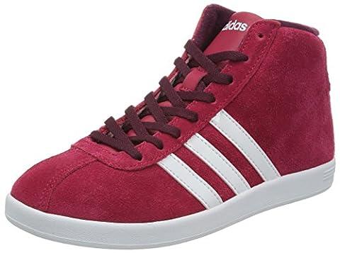 Adidas VlNeo Court MID W Schuhe Sneaker Turnschuhe Trainers rot Damen Wildleder