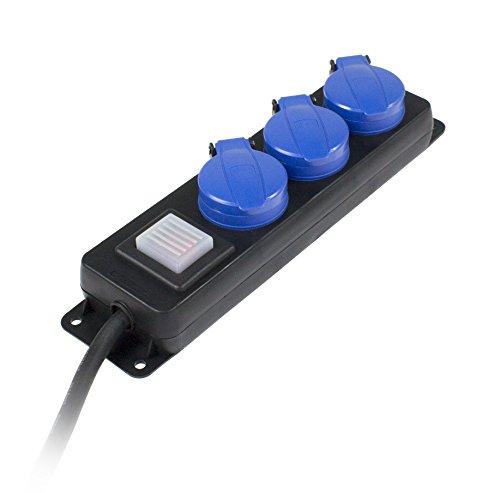 as - Schwabe 38603 Ciabatta elettrica 3 prese con protezione, 1,5 m, H07RN-F 3G1,5, IP44