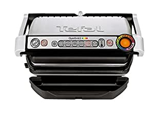 Tefal GC713D40 Optigrill+ Grill, 6 Automatic Settings and Cooking Sensor, Stainless Steel