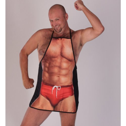 Man - swimwear Novelty Apron