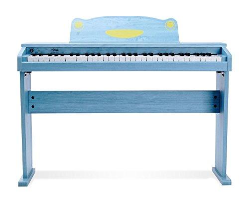 Artesia F-61BL Kinder Digitalpiano (E-Piano, Keyboard, Bank, Kopfhörer, 61 anschlagsdynamische Tasten, 8 Sounds, 1 Demo Song, 32-Fache Polyphonie, USB-Anschluss, inkl. Apps für Android und iOS) blau - 2