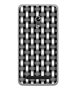 PrintVisa Designer Back Case Cover for Asus Zenfone 6 A600CG (Black And White Checks Pattern)