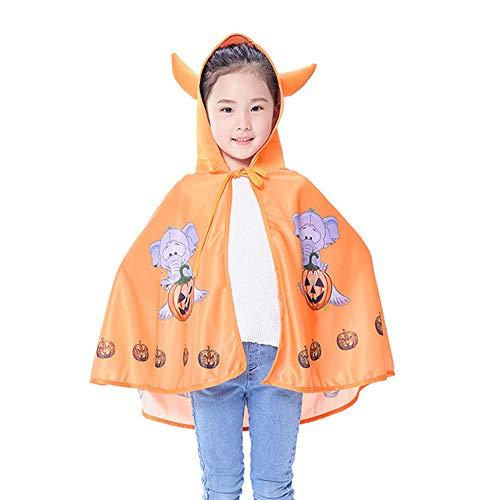 Holloween Flügel Kostüm - Halloween Kinderkleidung Hörner Umhang Umhang Hexe Teufel Schal Cosplay Kostüme, passend für die Themenparty
