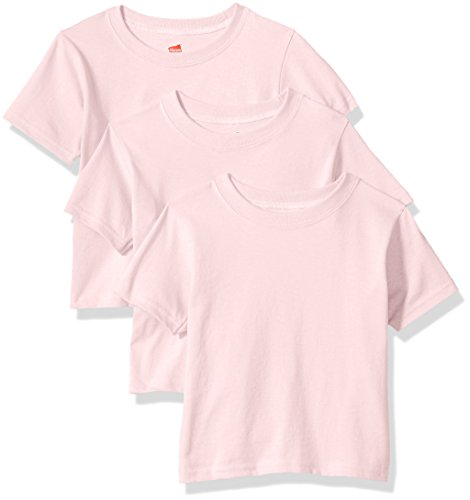 Hanes ComfortSoft Toddler Crewneck T-Shirt 3-Pack 2T Pink (Toddler-shirts Hanes)