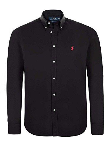 Ralph Lauren - Chemise noire col italien Noir