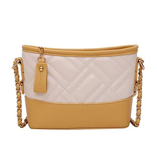 sche, Umhängetasche Damenmode Niet Patchwork Farbe Abdeckung Retro Umhängetasche Flap Bag für Match Kleidung Einkaufen Handtaschen Taschen ()