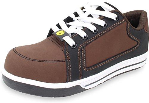 R Line Sicherheitsschuh S2 Nebraska Halbschuh im Sneaker-Style nach EN 20345 Braun
