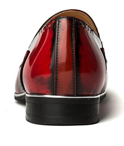 OPP , Chaussures de ville à lacets pour homme Rouge