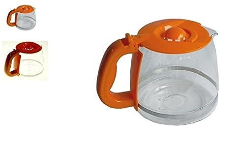 Russel Hobbs Kaffeekanne, Glaskanne, Ersatzkanne 168370/GRH, Orange für Kaffeemaschine 14683-56
