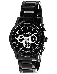 Mador MAM-554 - Reloj de cuarzo con correa de acero inoxidable para hombre,