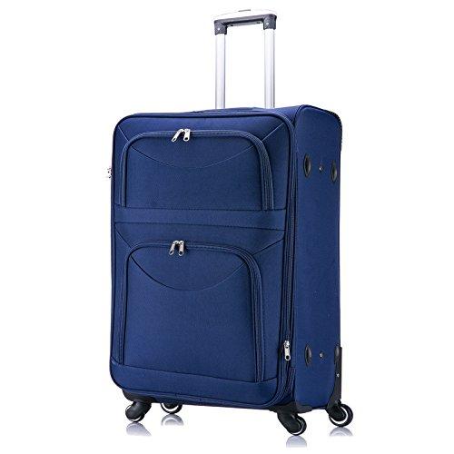 WOLTU RK4214bl-XL Reisekoffer Stoff 4 Rollen , Reise Koffer Trolley 1200D Oxford Weichschale , Weichgepäck Reisegepäck Handgepäck M / L / XL / Set , leicht &...