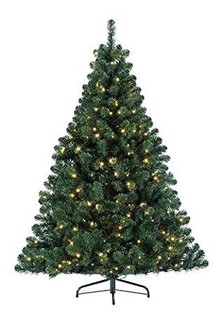 Kaemingk 678250 Weihnachtsbaum Imperial Pine 150 cm mit 160 warmweissen LED und Lichtcontroller