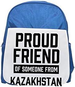 Proud friend of someone   Kazakhstan printed kid's Bleu  backpack, Cute backpacks, cute small backpacks, cute Noir  backpack, cool Noir  backpack, fashion backpacks, large fashion backpacks, Noir  f | Grandes Variétés