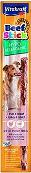 VITAKRAFT P/1 Beef Stick Hypoallergénique Friandise pour Chien 12 g - lot de 5