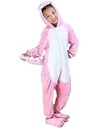 Pijama Disfraces de Animales para Niños y Adolescentes Niños Niñas Halloween con Capucha Todo En Uno Mono