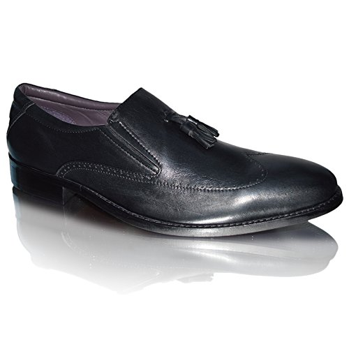 Pantofola In Pelle Pantofola Pantofola Nappa Da Uomo In Pelle Gucinari Uk 7-11 Colori Pelle