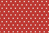 Westfalenstoffe * Junge Linie * Capri Sterne rot 0,5m *