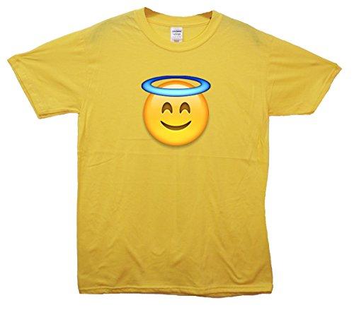 Angel Face Emoji T-Shirt Gelb