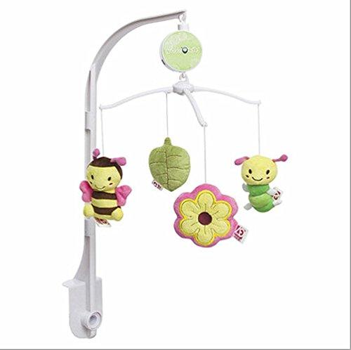 JYSPORT Musikmobile Baby Boy & Girl Krippe mit hängenden Rotierende Plüsch-Puppen Sleeping Music Box Melodien pädagogisches Spielzeug (Garden bees)