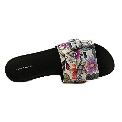 Elie Tahari Sanddune Leder Sandale Floral Print