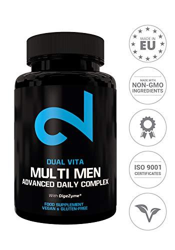 DUAL VITA Multi Men | Combinación De Vitaminas, Minerales y Plantas | Hombres Activos |60 Cápsulas Veganas | Suplemento Dietético 100{7e2ebdd796ce89a12bbfdc6b48e65d79b73b7213f772b02536965029204bf744} Natural | Certificado | Sin Aditivos | Fabricado En La UE