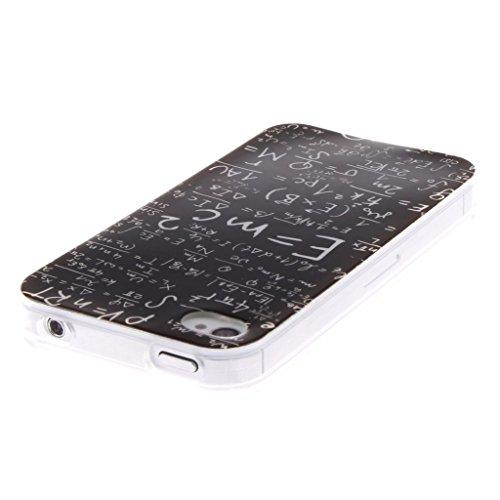 Coque iPhone 5s,Housse iphone 5, Hamyi Etui Souple Slim TPU Silicone Bumper pour Apple iPhone 5 et iPhone 5s (Lion) Formule mathématique