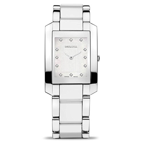 RODANIA SWISS MADE WOMEN'S WHITE STEEL BRACELET & CASE QUARTZ WATCH 24523-48