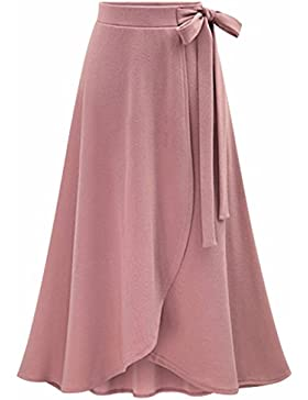 UMilk Mujeres Elegante Alta Cintura Split Irregular Falda Falda