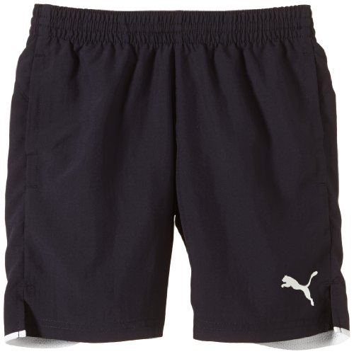 PUMA Kinder Hose Leisure Shorts, new navy-white, 128, 653830 06 (Mesh-mädchen-shorts)