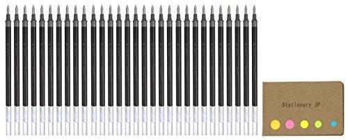 Uni-ball UMR-1 Refills for Signo Gel Ink Ballpoint Pen, UM-151 DX, 0.38mm, Black Ink, 30-pack, Sticky Notes Value Set - 30k Compact