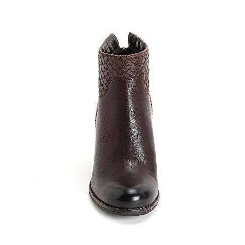 ALESYA by Scarpe&Scarpe - Bottines hautes avec cuir traité, en Cuir, à Talons 8 cm Marron