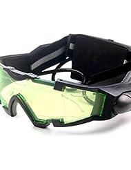 PIGE Luces gafas de visión nocturna con el azul del tirón de salida LED