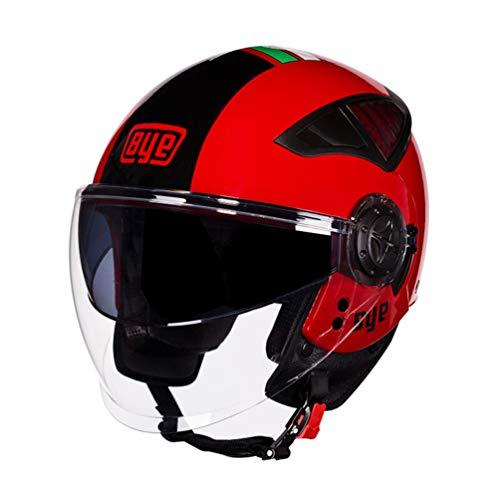 Qianliuk 256 Moto caSchi Uomo Donna Estate Inverno Sunproof Antivento Tappi di Sicurezza Doppia Lente Motocross caSchi subBlack 53-60cm