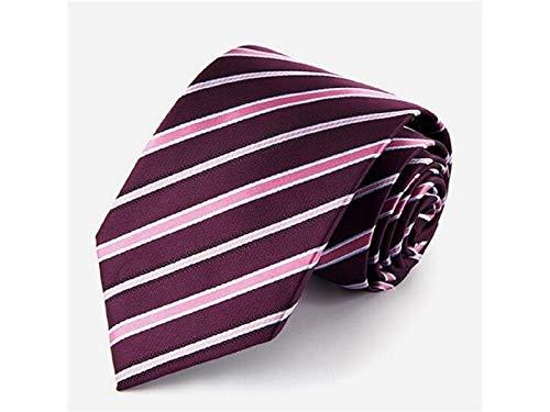 JxucTo Herrenmode Streifen Krawatte für Hochzeitsparty Formelle und Casual Gelegenheit (lila und Pink)