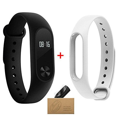 Xiaomi Band 2, MI Band 2 Smart Armband mit OLED Display Berechnung Schritte Herzfrequenz Wasserdicht Wireless Bluetooth 4.0 Armband Monitor Fitness Tracker (Wireless-tracker-armband)