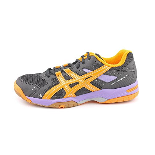 Asics Gel-Rocket 6 Toile Chaussure de Tennis Black-Mango-Purple
