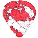 Pieza de repuesto para guitarra de piedra sólida con forma de corazón de imitación rosso