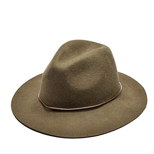 Große Krempe Filz Fedora Hüte Vintage Unisex Wolle Jazz Caps Cowboy Panama Trilby Derby Hut
