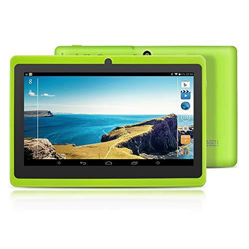 [2019 Upgrade] YUNTAB Q88 7-Zoll-Tablet-PC, 1 GB RAM + 8 GB ROM, Google Android 4.4, AllwinnerA33-Quad-Core-Cortex-A7 1,5 GHz, HD-Touchscreen, Dual-Kamera, WI-FI, Bluetooth (Grün) Touch-screen Bluetooth Dual