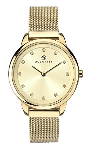 Accurist Womens Watch, Analogue Classic Display and Gold Plated Strap 8194.01