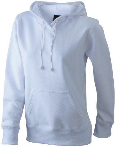 James & Nicholson Damen Sweatshirt Sweatshirt Ladies Hooded Sweat Weiß
