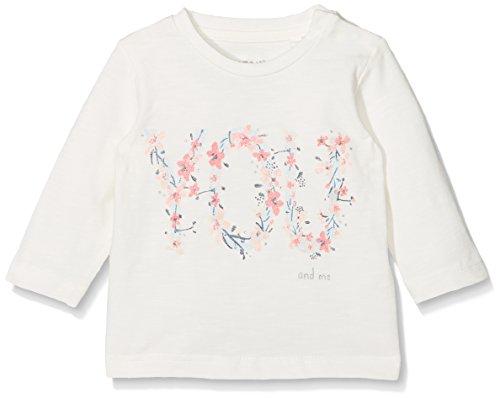 NAME IT Mädchen Langarmshirt Nbfdarling LS Top, Weiß (Snow White), 56 (Strumpfhosen Long Sleeve Jersey)