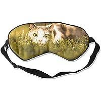 Eye Mask Eyeshade Cat Rest In Grass Sleeping Mask Blindfold Eyepatch Adjustable Head Strap preisvergleich bei billige-tabletten.eu