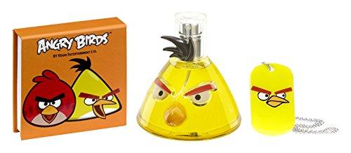 ANGRY BIRDS Coffret Cadeau pour enfant Yellow Bird Eau de Toilette 50 ml + Bloc Notes + Collier