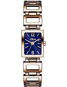 s.Oliver Damen-Armbanduhr Color Clash Analog Quarz Alloy SO-3067-MQ