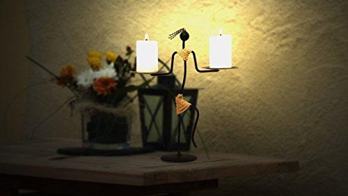Crafia Schwarz Tribal Lady Kerzenhalter, Couchtisch Deko Aufsteller, Schmiedeeisen Kerzenhaltern für Home/Urlaub Dekoration, Candle Light Dinner und für Restaurants. (Kerze Säule-platte)