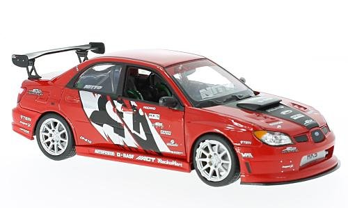 Subaru Impreza APR Performance, rot/Dekor, Modellauto, Fertigmodell, Welly 1:24