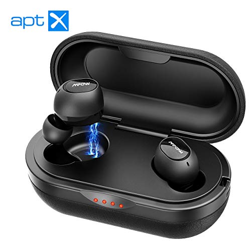 Mpow Premium In Ear Bluetooth Kopfhörer Aptx 3D Stereo-Sound, Bluetooth 5.0 Headset Wireless Kopfhörer Kabellos In-Ear Ohrhörer Sport IPX7/2 Mic/CVC 8.0-Noise Cancelling/Bass+ mit Ladebox bis 42 Std.