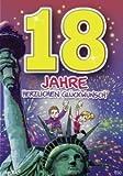 Archie Geburtstagskarte zum 18. Geburtstag Junge Mädchen rot Glückwunschkarte...